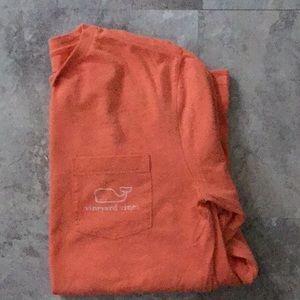 Small, Orange Vineyard Vines Long Sleeve T-Shirt